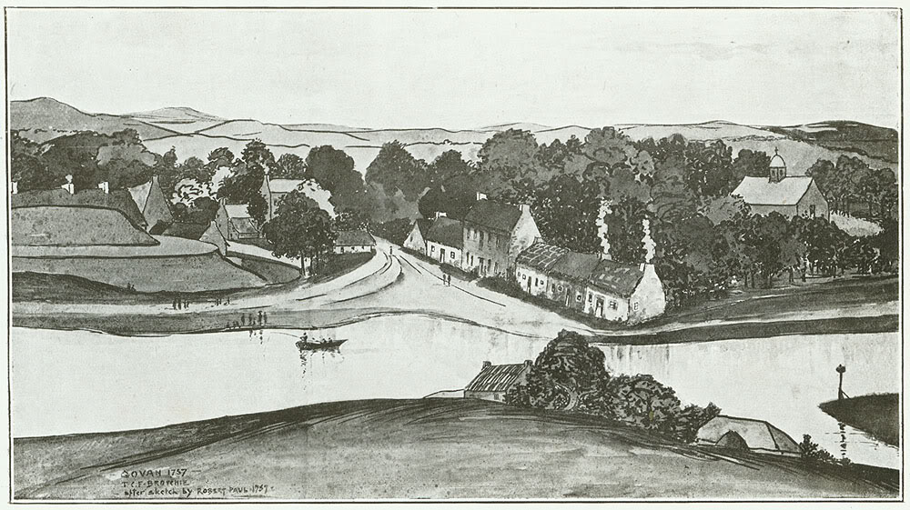 1757 - govan: Water Row and the Clyde