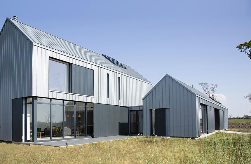 zinc clad farm house
