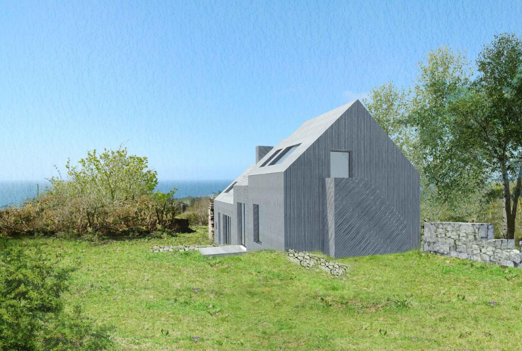 Architect designed rural house Arran
