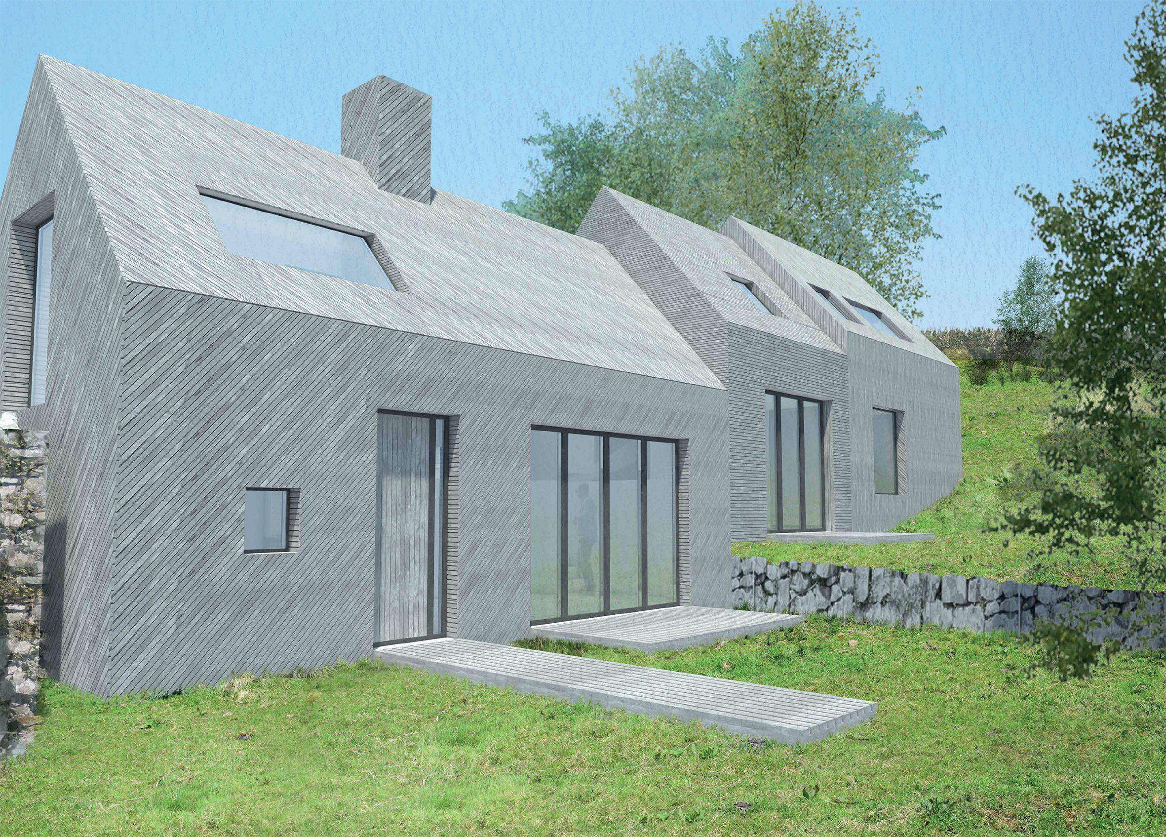 Architect Designed Rural House Arran · 208_151123_704_Exterior 4