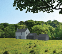 new rural house in Ayrshire